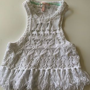 Victoria Secret crochet crop top size xs